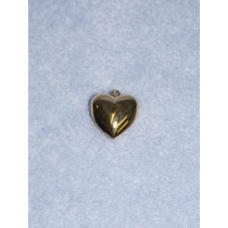 Pendant - 15mm Heart - Gold Pkg_6