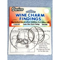 Pewter Wine Charm Finding - Pkg_5