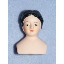 Pin Cushion Porcelain Doll Head - 1 7_8