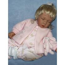 """Pink Bear Print Romper - 20"""" Dolls"""