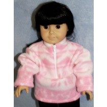 "Pink Fleece Pullover - 18"" Doll"