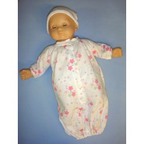 "Pink Preemie Gown for 14-16"" Dolls"