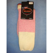 Pink Red Heel Socks (Large) Pkg_4 Socks