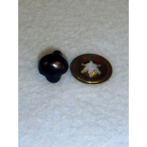 Plain Black Animal Nose - 15mm Pkg_100