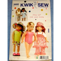 "|Play Clothes Pattern for 18"" Dolls"