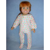 |Polka Dot Footie Pajamas
