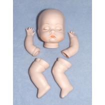"|Porcelain - Sleeping Baby Set - 3 1_2"""