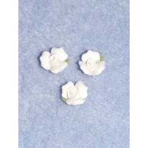 "Porcelain Rose - 3_8"" White Pkg_3"