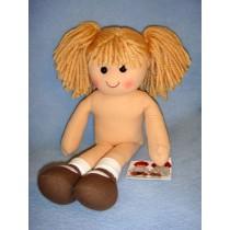 Rag Doll w_Blond Yarn Hair - 13 3_4