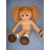 Rag Doll w_Light Brown Yarn Hair - 13 3_4""