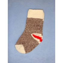 Red Heel Monkey Socks - X-Small - Pkg_4 Socks