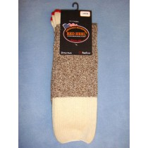 Red Heel Socks-w_Inst (Large) Pkg_4 Socks