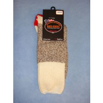 Red Heel Socks-w_Inst (Medium) pkg 4 Socks