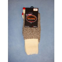 Red Heel Socks-w_Inst (Small) Pkg_4 Socks