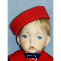 "Red Sailor Hat for 21-24"" Dolls"