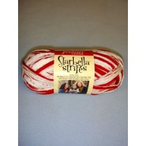 Red & White Starbella Stripes Yarn