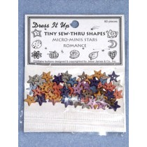 Romance Buttons - 8mm Stars - Asst Color