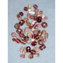 Rose Handblown Glass Bead Mix - 100 gr
