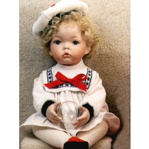 "Sailor Dress w_Hat - 21"" White"