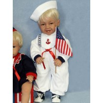 "Sailor Romper - 21"" White"
