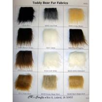 Samples - Teddy Bear Fur Fabric