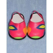 "Sandal - 3"" Dark Pink w_Flowers"