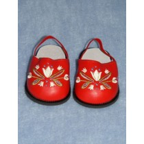 "Sandal - 3"" Red Flower"