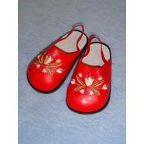 "Sandal - 4"" Red Flower"