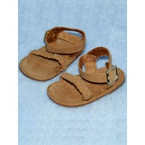 "Sandal - Braided - 2 5_8"" Camel Suede"