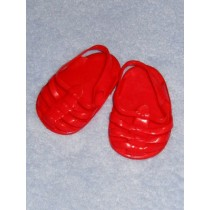 "Sandal - Jellies - 2 3_4"" Red Opaque"