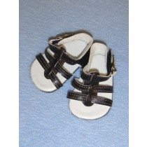 "Sandal - Strappy - 2 5_8"" Black"