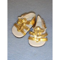 "Sandal - Strappy - 2 5_8"" Gold"