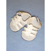 "Sandal - Strappy - 2 5_8"" White"