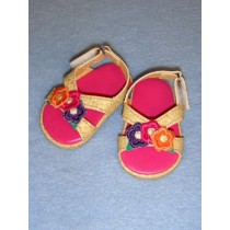 "Sandal - Three Flower - 2 7_8"" Multi Color"