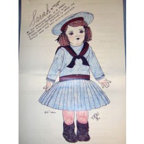 Sarah Cloth Doll & Clothing Pattern