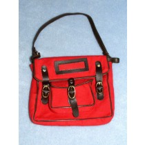 School Bag - Red Canvas
