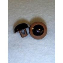 Eye - Animal Sew-On 15mm Brown Pkg_50