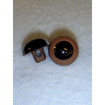 Sew-On Animal Eye - 9mm Brown Pkg_100
