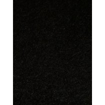 Shaggy Plush Felt - Black 1 Yd