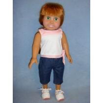 "|Shirt & Capris - 18"" Doll"