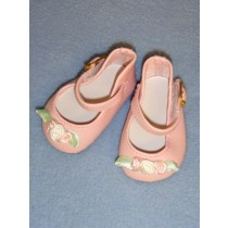 "Shoe - Ankle Strap - 2 3_4"" Pink w_Ribbon Rose"