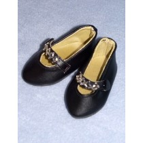 """Shoe - Beaded Party - 3"""" Black"""