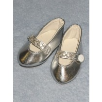 "Shoe - Beaded Party - 3"" Silver"