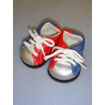 "Shoe - Bowling - 3"" Red & Blue"
