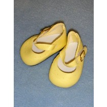 "Shoe - Classic Ankle Strap - 2 3_4"" Yellow"