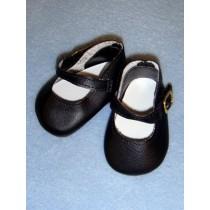 """Shoe - Elegant Ankle Strap - 2 3_4"""" Black"""