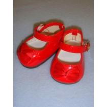 """Shoe - Elegant Mary Jane - 2 3_4"""" Red"""