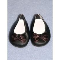 """Shoe - Fancy-Slip-On - 2 3_4"""" Black"""