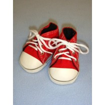 "Shoe - High-Top Tennis - 3"" Red"