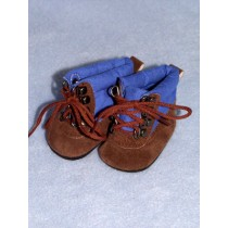 "|Shoe - Hiking Boots - 3"" Blue_Brown"